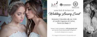 Wedding Luxury Event: 9 Dicembre 2018 Comiso (RG)