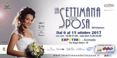 8b691d33946d La Settimana della Sposa  Dal 6 al 15 ottobre 2017 Acireale