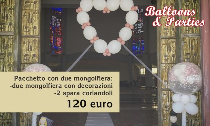 Balloons & parties offerta: 2 mongolfiere 2 sparacoriandoli
