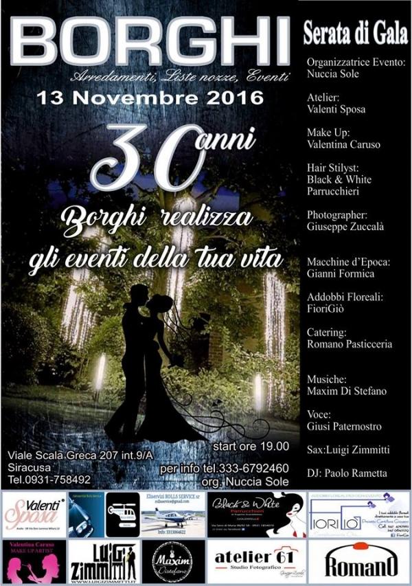 Serata di gala borghi arredamento 13 novembre 2016 for Borghi arredamenti