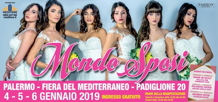 9df3690c42c7 Sposa del Mediterraneo  Dal 4 al 6 Gennaio 2019 Fiera del Mediterraneo  Palermo