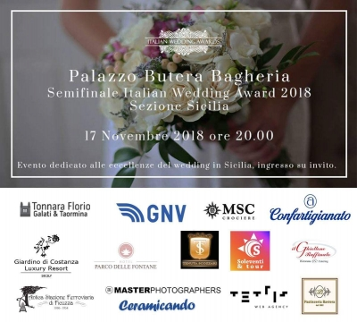 Italian Wedding Awards-Eccellenze Siciliane del Wedding: 17 Novembre 2018 Bagheria (PA)