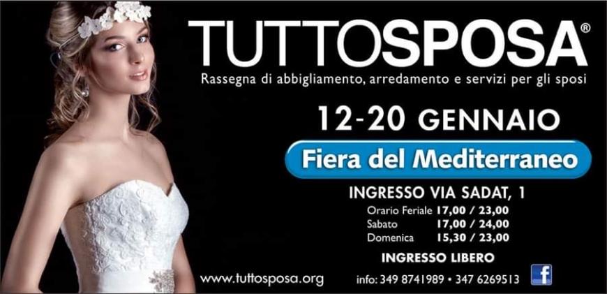 ce4c3784f10b Tutto Sposa  Dal 12 al 20 Gennaio 2019 Fiera del Mediterraneo Palermo