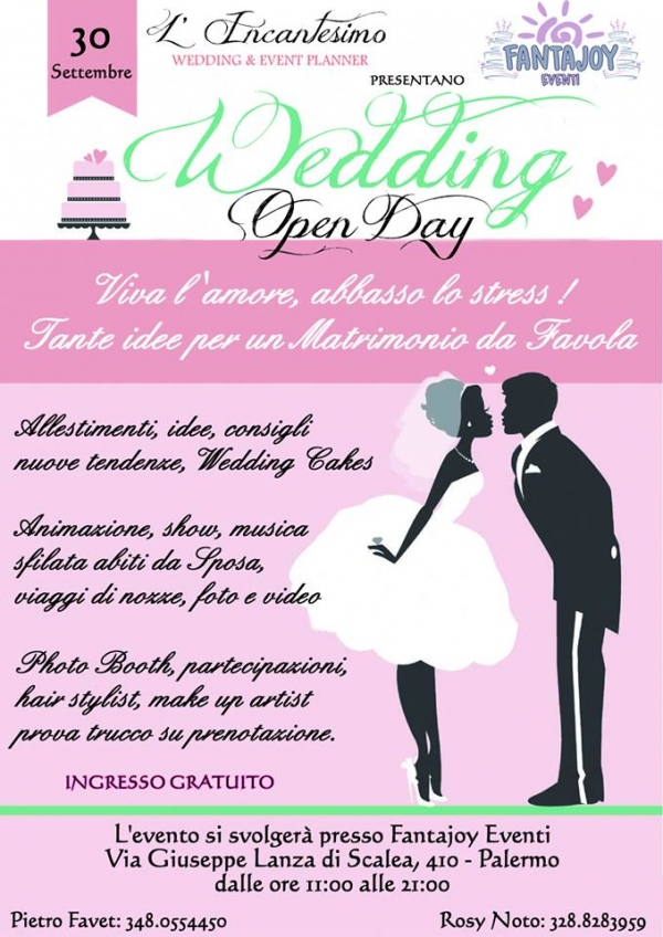 Wedding Open Day: 30 Settembre 2018