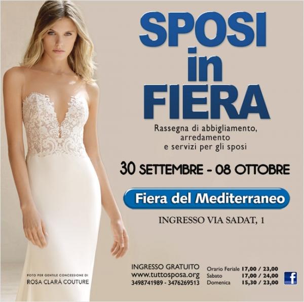 76024984c9b6 Sposi In Fiera  Dal 30 Settembre all 8 Ottobre 2017 Fiera del Mediterraneo  Palermo